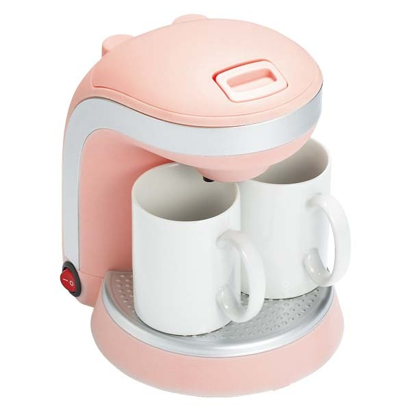 KAFE DUO | レコルト(recolte) --- i assume this is a coffee maker for two. whatever. all i know is it is a pleasant shade of pink and our fancy foamy thing is ugly.