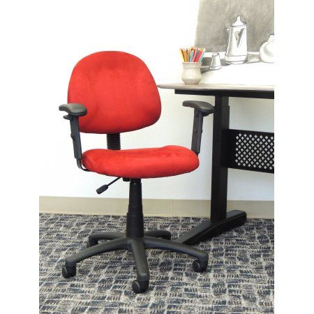 Boss Office Products Red Contemporary Deluxe Posture Chair Black