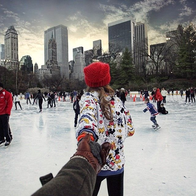 Ice skating in Central Park, New York at Christmas time... Magical!