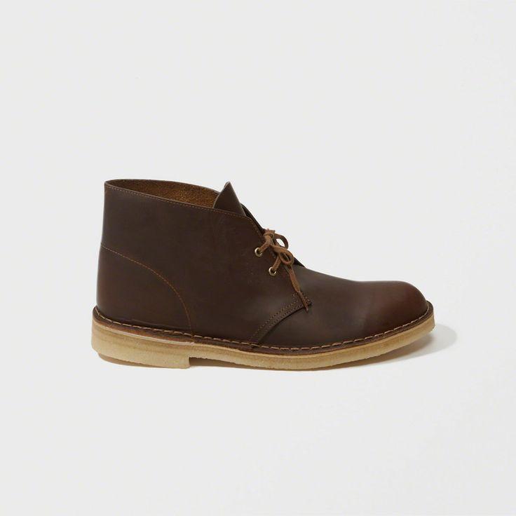 A&F Men's Clarks Desert Boot in Dark Brown - Size 11.5