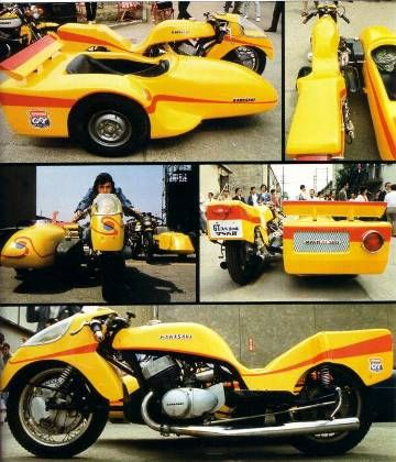 サイドマシーン/人造人間キカイダー - gavan80's blog. Kawasaki H2 powered 750 two stroke, whirling death machine!