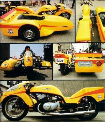 サイドマシーン/人造人間キカイダー - gavan80's blog. Kawasaki H2 powered 750 two stroke, whirling death machine!