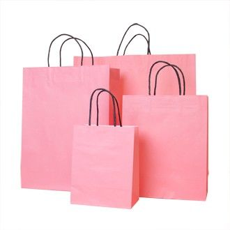 Pink Carrier Bags #Retail #Paper #Bags
