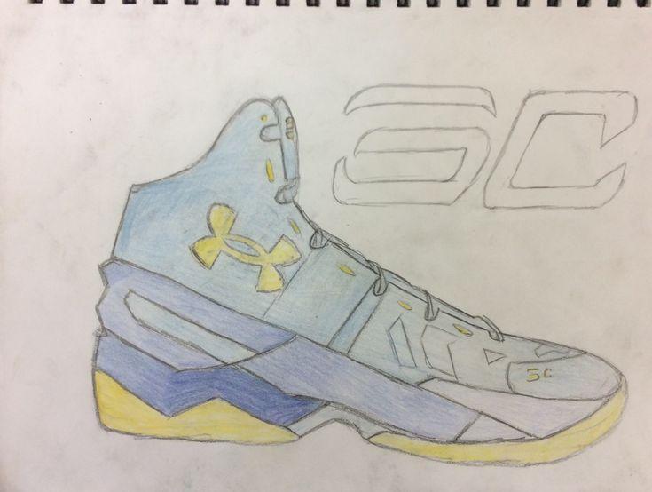 Stephen Curry Shoe Sketchbook Drawing