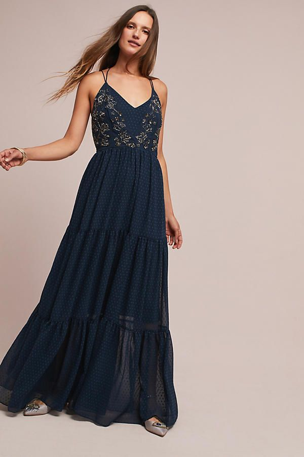 Cap sleeves · Lucinda Beaded Maxi Dress - 150 Best Navy Blue Bridesmaid Dresses Images On Pinterest Navy