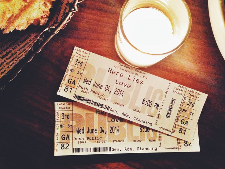 Here Lies Love (off-Broadway) is an immersive musical theater experience about t…
