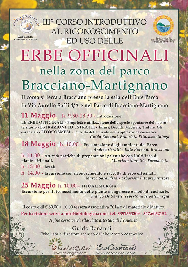 3°corso introduttivo al riconoscimento ed uso delle piante officinali - Bracciano 2014