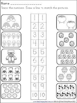 St. Patrick's Day Developing Math Skills for Preschool