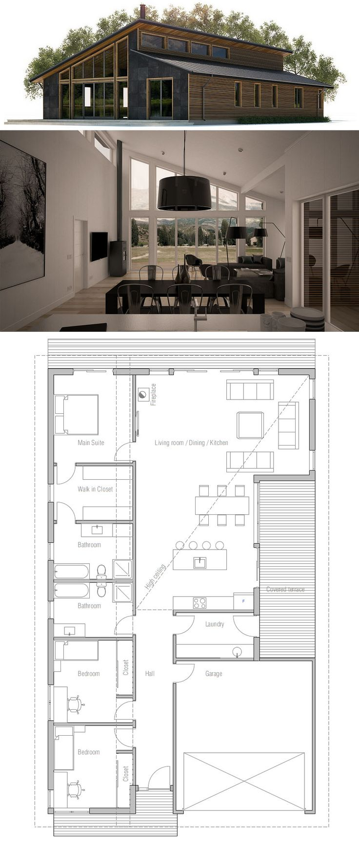 Astounding 17 Best Ideas About Modern House Plans On Pinterest Modern Floor Largest Home Design Picture Inspirations Pitcheantrous
