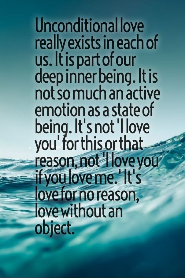uncoditional love without any reason best quote for her with images
