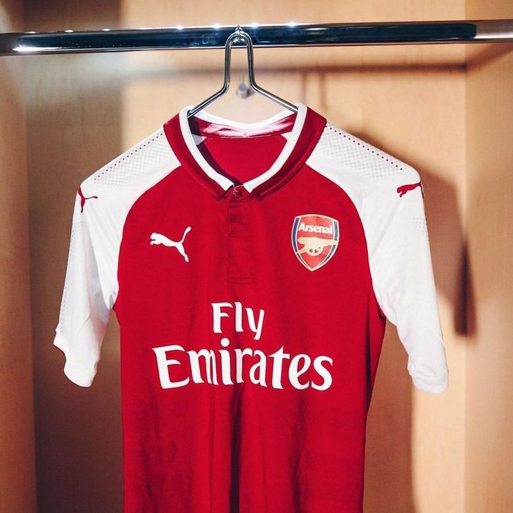 The new #Gunners shirt from #Puma is straight  Simple Classic and all #Arsenal. Check out the full 2017-18 Range. Link in bio.