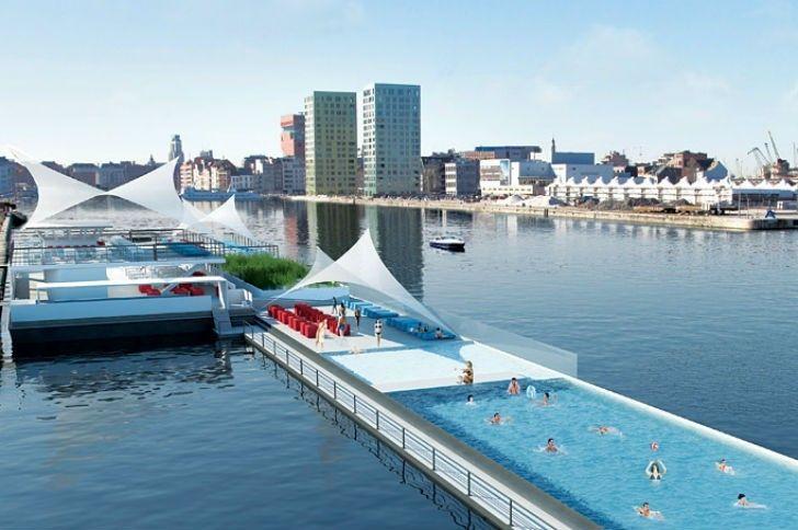 Zobacz pływający basen. Latem pojawi się w Europie