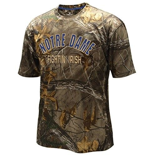 Notre Dame Fighting Irish Ncaa Realtree Trail Men's Camo (Green) Performance S/S T-Shirt, Size: Large