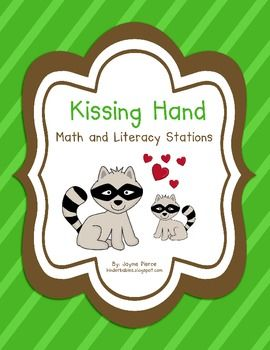 Here is a set of literacy and math stations to use with The Kissing Hand, by Audrey Penn! Literacy StationsABC upper/lowercase matchPoc...Kisses Hands, Ten Frames, Hands Stations, Math Stations, Free Kisses, Teachers Notebooks, Literacy Activities, Kindergarten, Literacy Stations