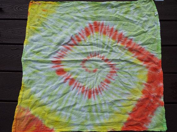 Large Tie Dye Bandana in Funky Boho Colors  from Creations by Maris  https://www.etsy.com/listing/598957057/large-tie-dye-bandana-xl-tie-dye