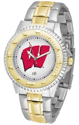 Wisconsin Badgers Competitor Two Tone Watch by SunTime. $91.67. The ultimate Wisconsin Badgers fan's statement, our Competitor Two-Tone timepiece offers men a classic, business-appropriate look. Features a 23kt gold-plated bezel, stainless steel case and date function. Secures to your wrist with a two-tone solid stainless steel band complete with safety clasp.
