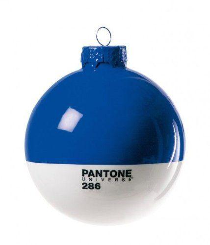 Christmas-Pantone® 286 Glass Ball Ø Cm.8 - Blue Jetzt bestellen unter: http://www.woonio.de/p/pantone-weihnachtskugel-blau-286/