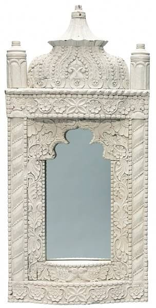 Ex-Tony Duquette Anglo Indian Wall Mirror. Spraynpaint may help w this