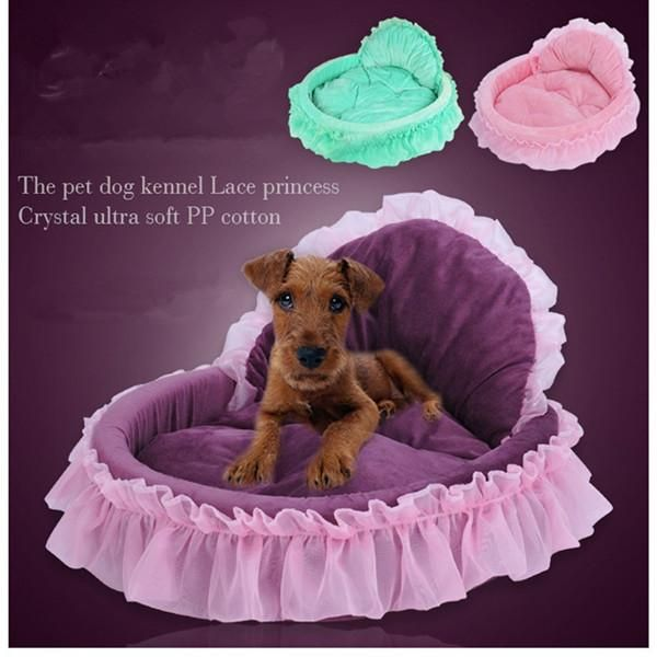 Lovd-Lovf 2017 Luxury Nest Mat Kennels Princess Dog Bed Soft  For Small Dogs Pink Lace Puppy House Pet Doggy Bedding Cat Dog Bed