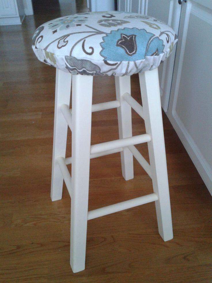 DIY Stool Cushion - Use for Breakfast Bar Stools