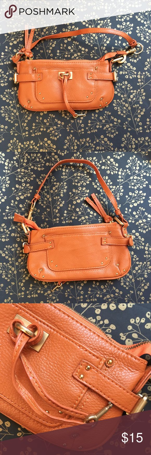"""Orange Clutch Like new, used once.  Great color for fall and summer. It's named Chloe but I am sure it is not famous """"Chloe"""". Chloe Bags Clutches & Wristlets"""