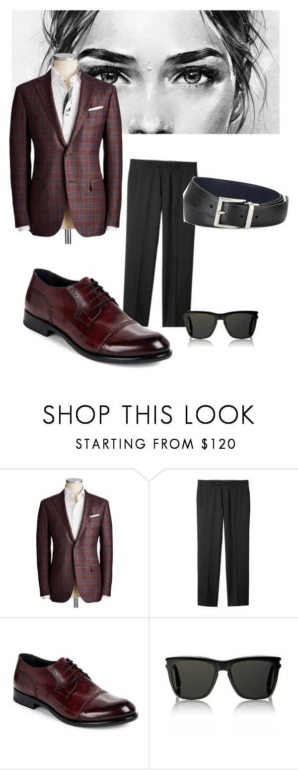 """""""Soy Hombre"""" by anniebarri ❤ liked on Polyvore featuring Banana Republic, Harrys of London, Yves Saint Laurent and Prada"""