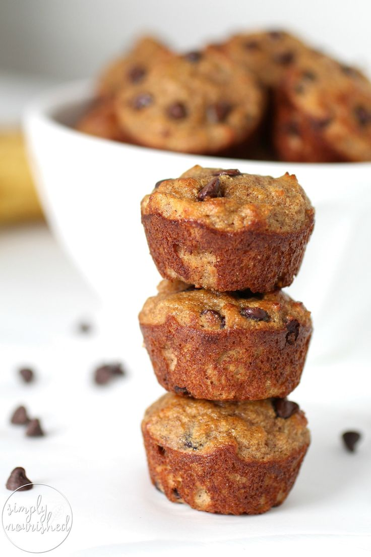 Get ready to fill your home with a mouthwatering aroma and better yet, sink your teeth into the most delicious grain-free Banana Chocolate Chip Mini Muffins   Grain-free muffins   Gluten-free muffins   Paleo muffins   Dairy-free muffins   grain-free breakfast   gluten-free breakfast   paleo breakfast   dairy-free breakfast    The Real Food Dietitians #healthymuffins #glutenfreemuffins #paleomuffins #muffinrecipe