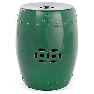 Kelly Garden Stool, Hunter Green