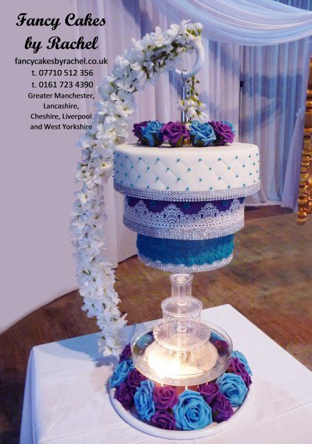 42 best suspended cakes images on pinterest cake wedding chandelier cake and fountain mozeypictures Image collections