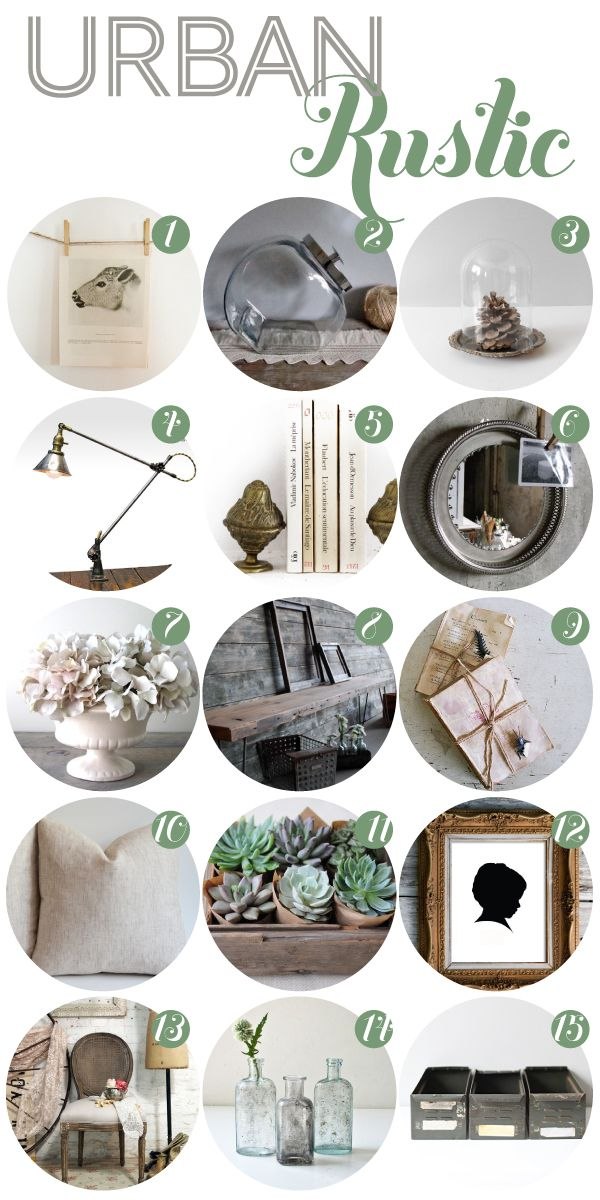urban-rustic ideas like raw wood, white flowers, linen                                                                                                                                                      More