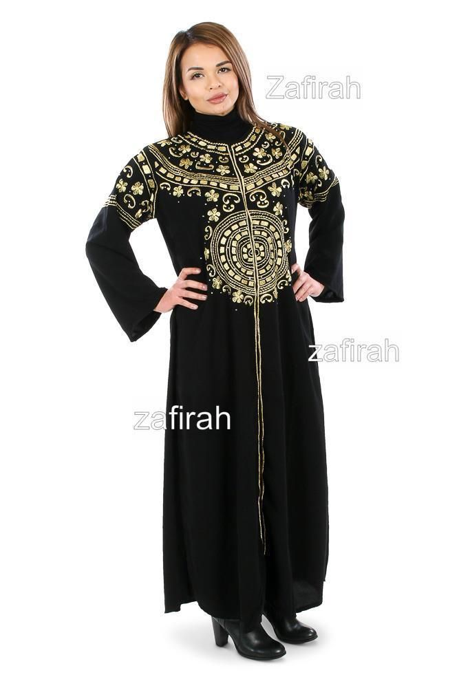Embroidered Party  Wedding Abaya Jilbab Farasha Burka Maxi Kaftan Long dress #Zafirah