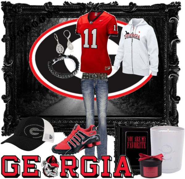 """""""Ga Bulldogs Game Day"""" by stephanie376 on Polyvore"""