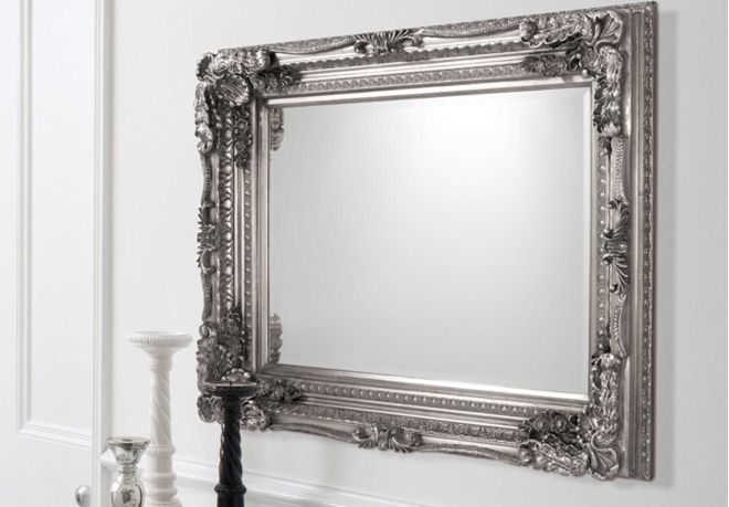 carved louis silver mirrors living room storage bookcases