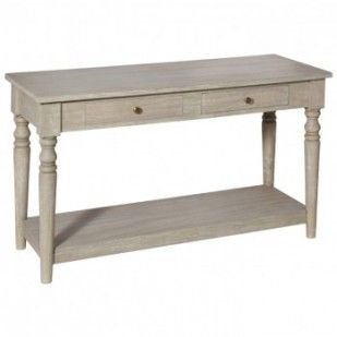 Vintage Sand Mango Wood Traditional Console Table