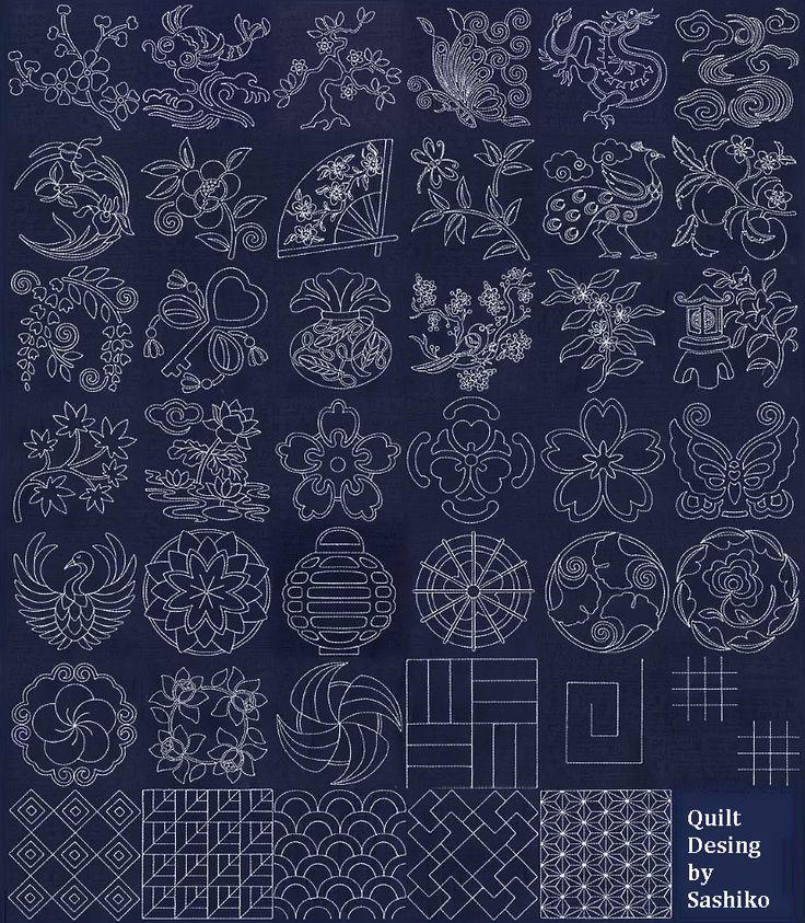 Sashiko Quilting Patterns : 1240 best Sashiko images on Pinterest Sashiko embroidery, Needlework and Japanese embroidery