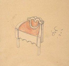 Wymiary mebli wynikłe, jak rzekłem, z zasady geometrycznej, dawały różne niespodzianki. Stoliki nocne były na przykład tak olbrzymie, że blat ich sięgał do piersi człowieka; zarazem sprzeciwiały się całkowicie celom użytkowym: ani spojrzeć na zegarek, ani wypić herbatę w łóżku, nic! Olbrzymie fotele w sypialni miały siedzenie o jakieś 10 cm wyższe od normalnych, stolik zaś. wskutek zasady, że ma być równej wysokości z poręczami, był tak niski, że o kant uderzało się kolanami,