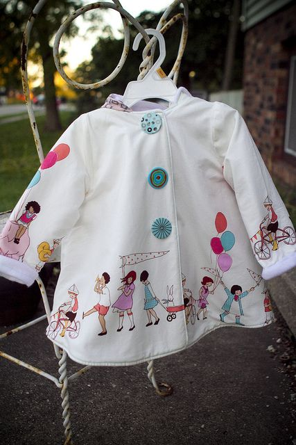 Cute jacket, love the fabric!