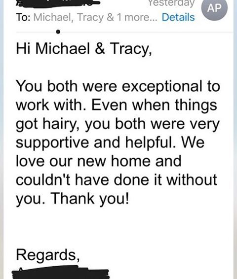 ah its very nice to wake up to an email of appreciation the mortgage