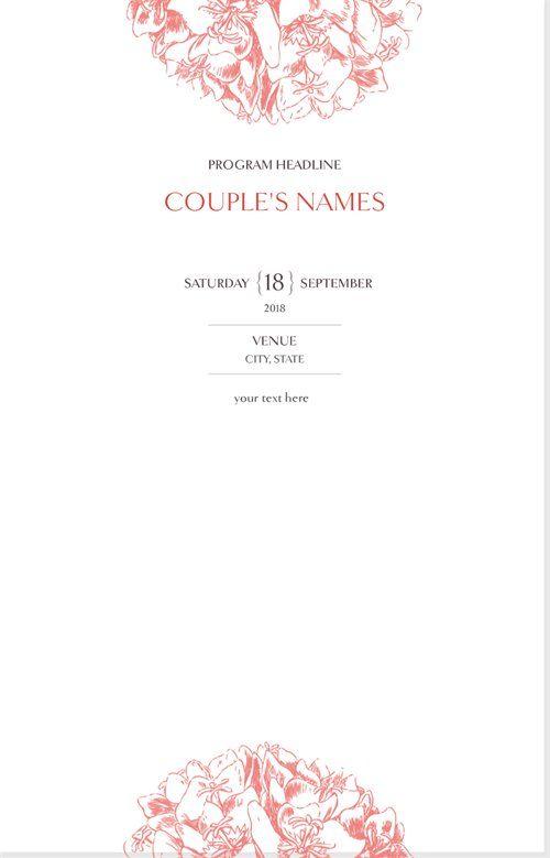 Vistaprint Wedding Programs.Affordable Wedding Programs Custom Wedding Programs Vistaprint