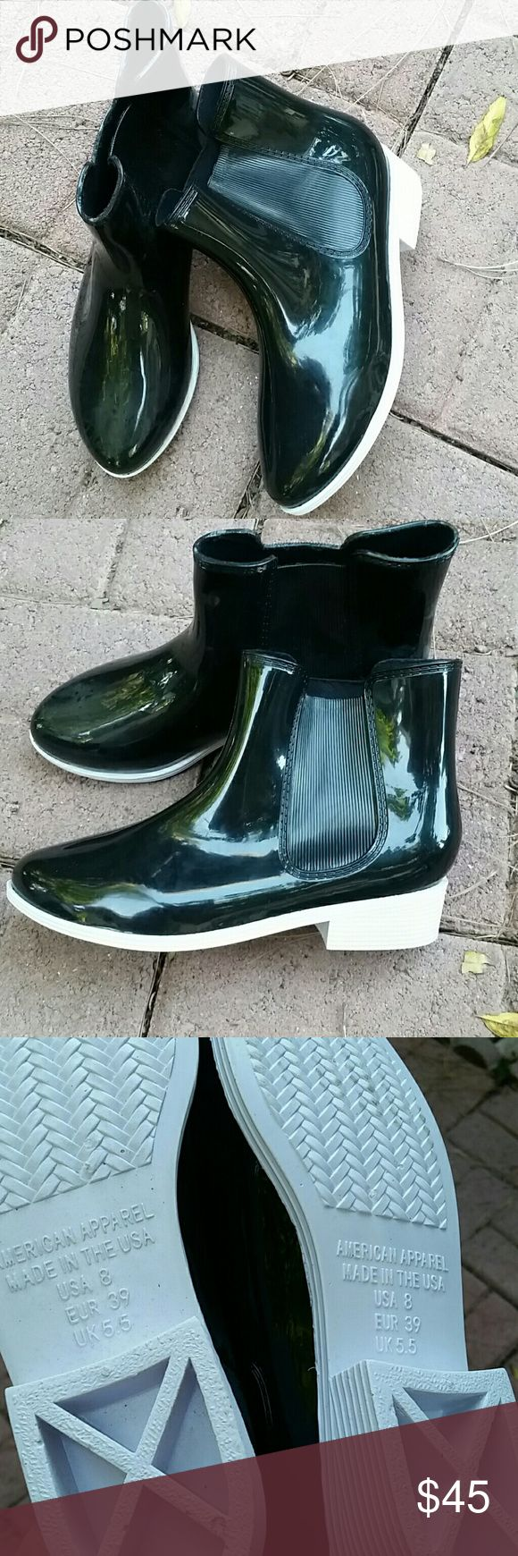 American Apparel rain boot ankle boot city boot Brand new ,never been worn American Apparel rain boot ankle boot City Boot / size 8  / Made in USA / NO trades price is firm! American Apparel Shoes Winter & Rain Boots