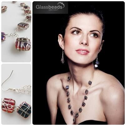 Drátkovaný náhrdelník TILE | Glass4u.cz