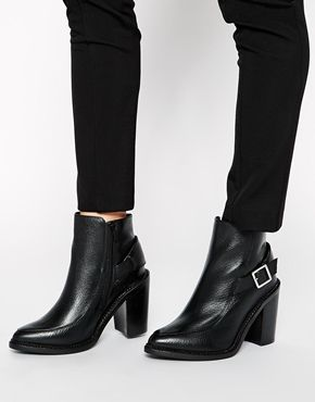 ASOS EXPRESS YOURSELF Leather Ankle Boots