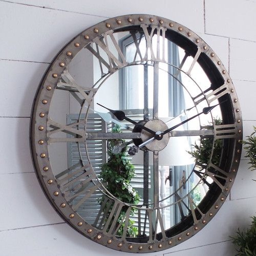 found it at wayfair co uk 60cm industrial wall clock on wall clocks id=77266