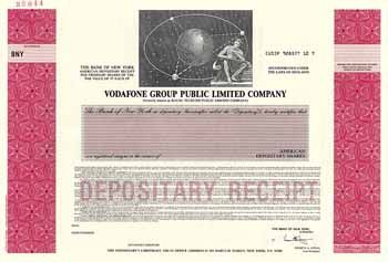 Vodafone Group Public Ltd. Co. shares à 5 p o.D. (Specimen).