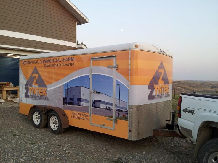 Zyntek Construction Ltd. vehicle wrap