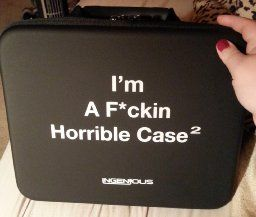 Amazon.com: InGenious I'm A F*ckin Horrible Case for Cards Against Humanity Game, Black, X-Large: Toys & Games