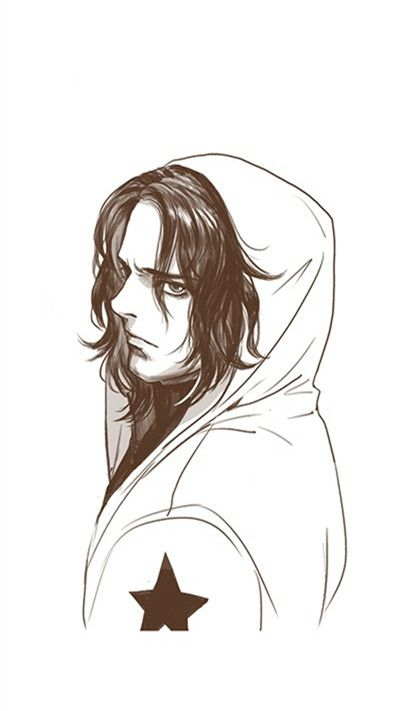OMG ....this is the hoody we want.....bucky is wearing it!!! <---I agree! I definitely love his expression and the simple detail in his jacket.