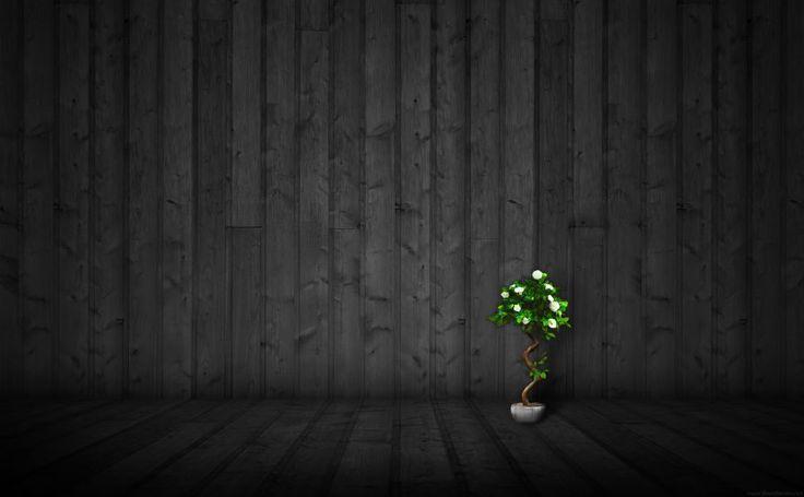 Black Wood Texture HD Wallpaper