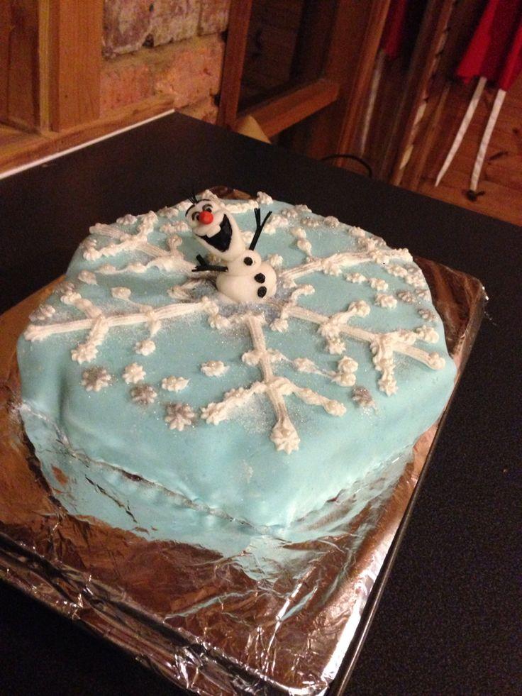 Olaf snowflake frozen cake
