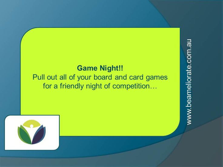 No TV night - trade it for games instead!!